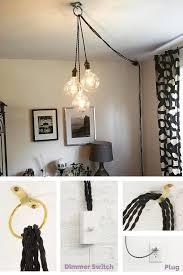 pendant lights unique chandelier plug