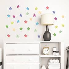 Modern Simple Pattern Colorful Shape Wall Stickers Stars Clouds Paws Triangles For Kids Room Nursery Room Art Decals Home Decor Wall Stickers Aliexpress