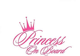 Amazon Com Princess On Board Sticker For Car Window Windshield And Body Die Cut Vinyl Kids Safety Stickers And Signs Baby Girl On Board Decal Pink Kitchen Dining