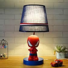 Kids Led Cloth Desk Lamp With Spider Man Batman Pattern For Bedroom Study Kids Room Creative Desk Lamp For Kids Room Bedsid Desk Lamps Aliexpress