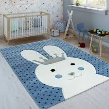Soft Cute Kids Rug Modern Baby Boys Nursery Bedroom Carpet Quality Rabbit Mats Ebay