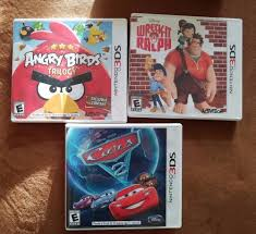 Nintendo 3DS Video Games Wreck it Ralph Angry Birds Trilogy Cars 2 ...