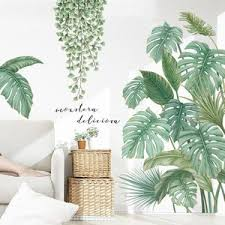 Tropical Palm Leaves Art Wall Stickers Gallery Wallrus Free Worldwide Shipping