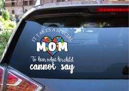 Autism Car Decal Autism Mom Special Mom Etsy