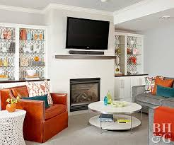 tvs over fireplaces better homes