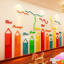 Vinyl Wall Decals Pencil Self Adhesive Home Decor Personalised Best Preschool Decor Daycare Decor Daycare Design