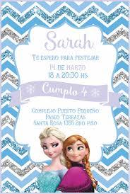 Invitacion Frozen Invitaciones De Frozen Invitaciones