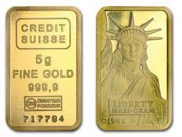 credit suisse 5 gram liberty gold bar