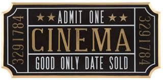 Amazon Com K N41 Indoor Decor Cinema Ticket Wall Sign Theater Media Plaque Room Movie Night Wall Art Home Decor Everything Else