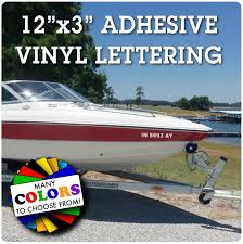 Watercraft Number Registration Sticker For Boats And Jet Skis