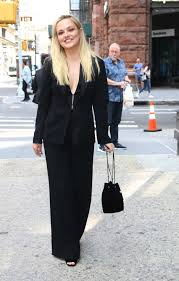 Emily Meade in a Black Suit Arrives at Build Series in NY 09/09 ...