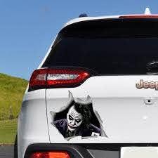 Joker Car Decal Joker Decal Car Bumper Sticker Car Accessories Car Window Decal Car Decals Ful In 2020 Car Decals Car Bumper Car