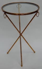 jacques adnet brass tripod pedestal