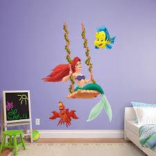 Ariel Swinging Disney Princesses Disney Little Mermaid Bedroom Disney Wall Decals Disney Wall Stickers
