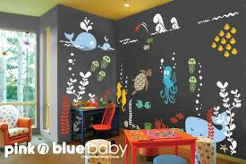 Underwater Playroom Wall Decals Kids Nursery Wall Decor Etsy Kids Wall Decals Playroom Wall Decals Nursery Wall Decor