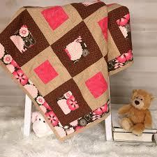 modern baby quilt handmade baby gift
