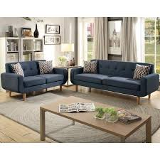 2 piece dark blue sofa set vene f6526