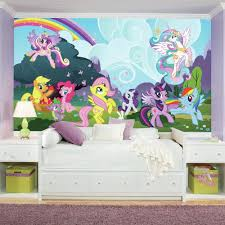 Roommates 72 In X 126 In My Little Pony Ponyville Xl Chair Rail Prepasted Wall Mural 7 Panel Jl1334m The Home Depot