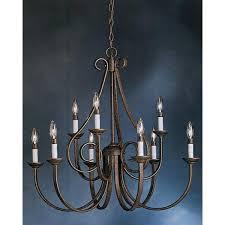 2 tier chandelier tannery bronze