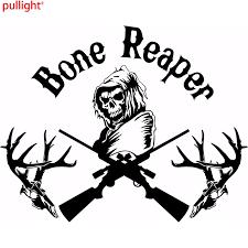 Bone Grim Reaper Gun Hunting Deer Skull Car Truck Window Vinyl Decal Sticker Vinyl Decals Stickers Decal Stickerskull Car Aliexpress
