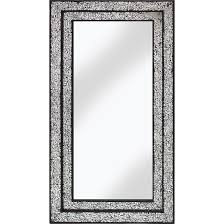b wall mirror rectangular in mosaic