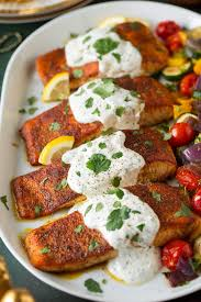 Moroccan Spiced Salmon with Lemon ...