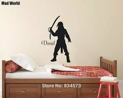 Personalised Custom Name Pirate Ship Boy Room Wall Art Stickers Wall Decals Home Diy Decoration Removable Decor Wall Stickers Wall Stickers Aliexpress