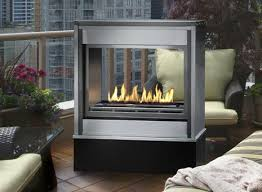 linear ventless outdoor gas fireplace