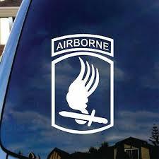 Army 173rd Airborne Brigade Decal Sticker Veteran Vinyl Car Window Patch Badge