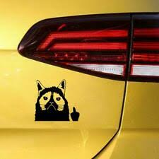 Grumpy Cat Middle Finger Stickers Car Van Bumper Window Decal 5099 Black Archives Midweek Com
