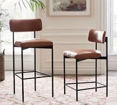 maison leather bar counter stools