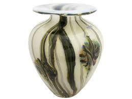 squat vase tigers eye extra large