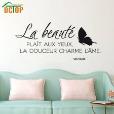 Beauty Pleases The Eye Wall Sticker French Home Decor Vinyl Removable Butterflies Wall Decal French Home Decor Olivia Decor Decor For Your Home And Office