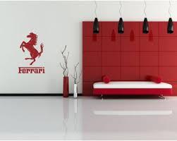 Ferrari Wall Decal Ferrari Logo Wall Stickers Home Room Design Living Room Designs Wall Murals