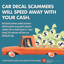 Auto Decal Scammers Will Leave Consumers Tennessee Department Of Commerce Insurance Facebook