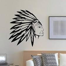 Amazon Com Wall Decal Vinyl Sticker People Native American Indian Man Tribal Decor Sb891 Home Kitchen