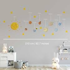 Planets With Names Of Solar System Vinyl Wall Decals Sold By Moonwallstickers Com On Storenvy