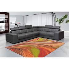 abstract rainbow waves runner rug slip