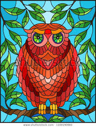 stained glass style fabulous red