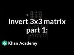 inverting a 3x3 matrix using