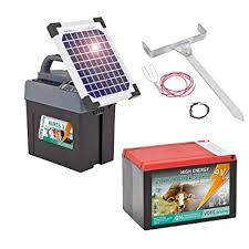 Voss Farming Aures 3 9v Solar Electric Fence Energiser 0 4 J 10 200 V 2 Power Settings Can Be Powered By 12v Battery Or Mains Buy Products Online With Ubuy Uae In Affordable Prices B01g3irs7u