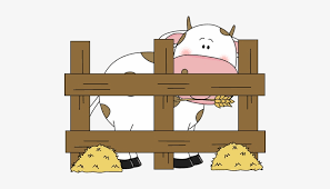 Free Cute Farm Fence Clipart Farm Cow Clip Art Free Transparent Png Download Pngkey