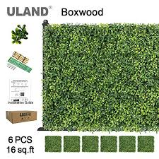 Uland Artificial Hedges Panels Topiary Fence Screening Faux Greenery Grass Backdrop Outdoor Privacy Wall Garden Fence Decoration Pack Of 6pcs 20 X20 On Galleon Philippines