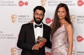 Thandie Newton, Adeel Akhtar - Thandie Newton and Adeel Akhtar Photos -  Virgin TV BAFTA Television Awards - Winner's Room - Zimbio