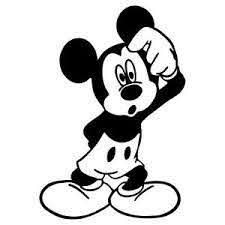 Large Confused Mickey Mouse Vinyl Decal Sticker Choose Color Size Disney Ebay