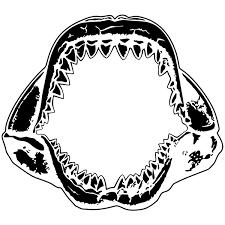 Wall Stickers Shark Jaws 2