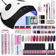 hot 12 colors nail gel set kit