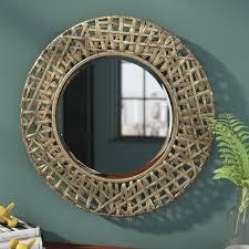richardson round metal mirror