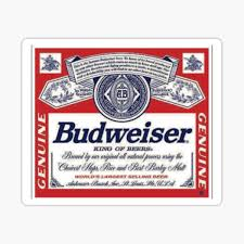 Budweiser Stickers Redbubble