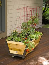 rolling planter box u garden bed on